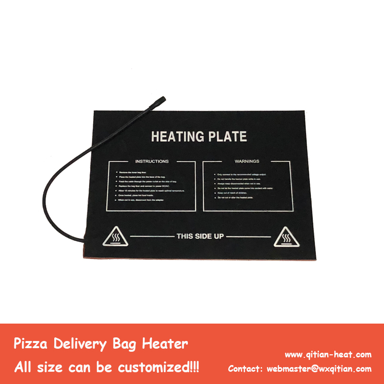 40x30cm Pizza Bag Heating Pad 6.5mm Thickness